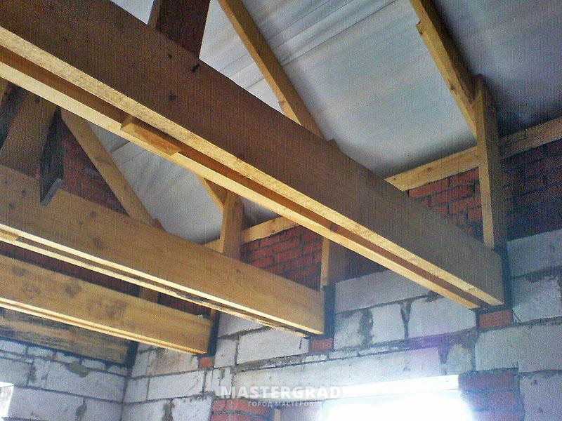 Как сделать потолок и пол мансарды