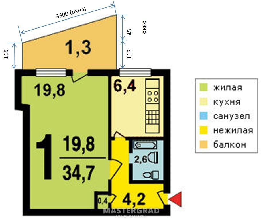 Остекление балконов домов серии 1 515 9ш..