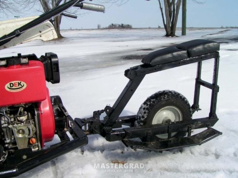 Одноколесный адаптер для мотоблока