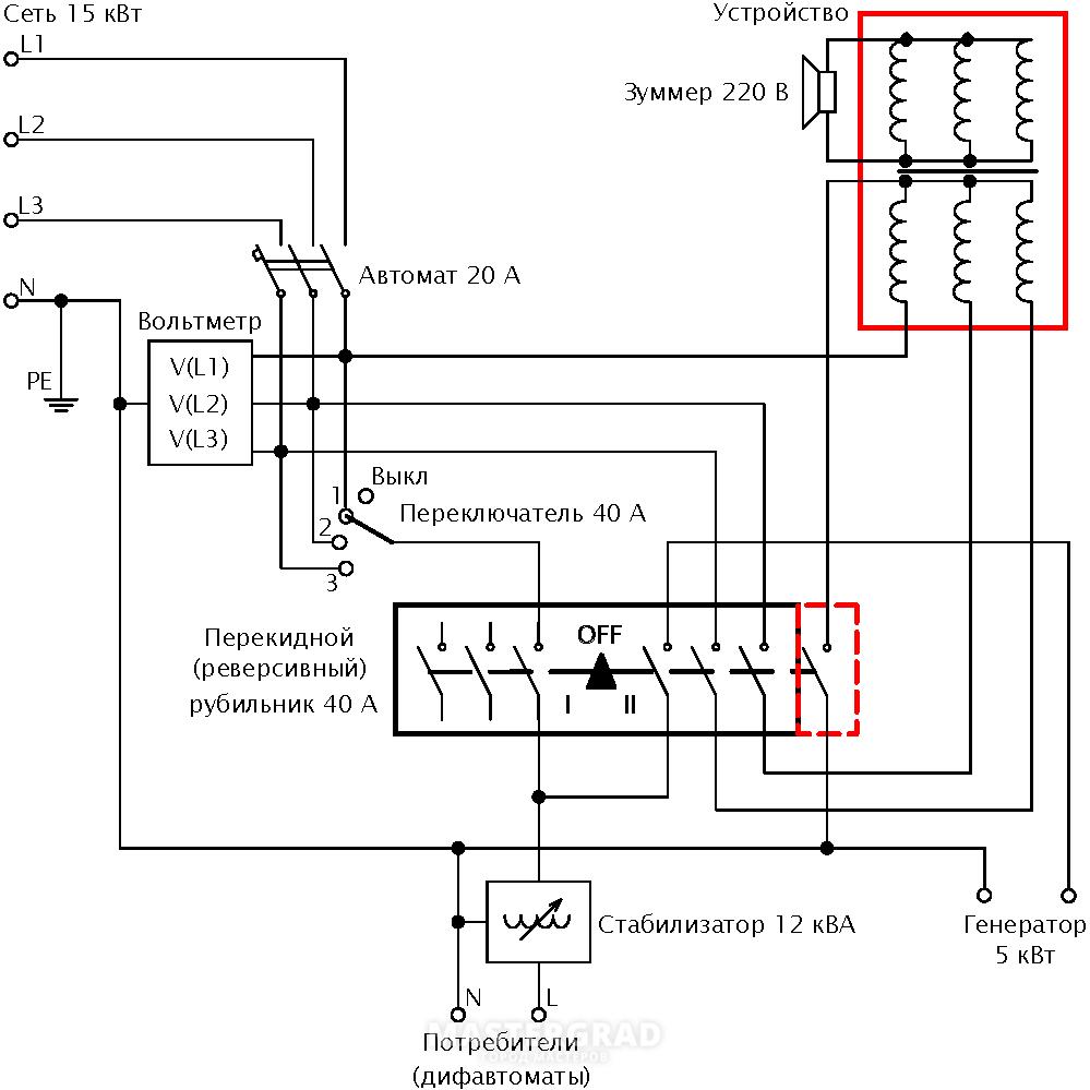 Генератор динамика схема