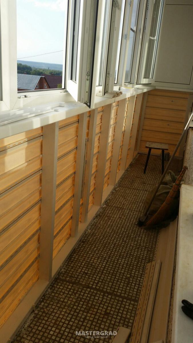 Утепление пластикового балкона.