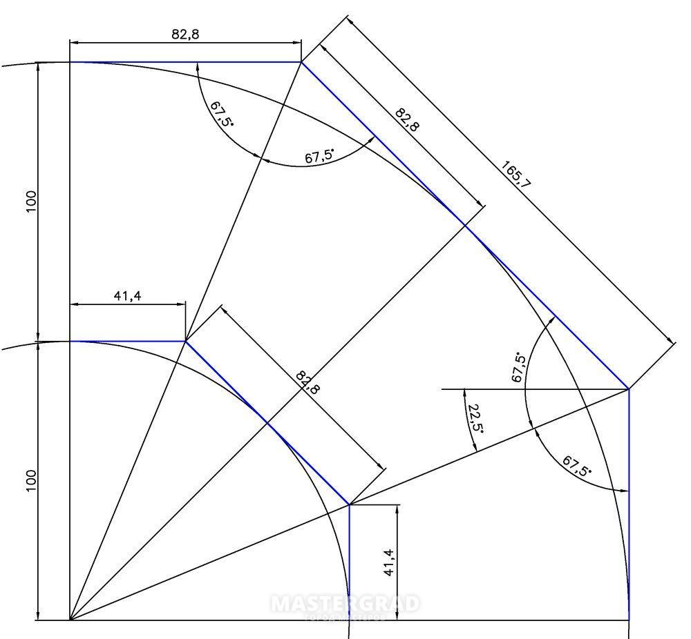 Египетский треугольник. Прямой угол без инструмента 11