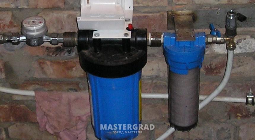 Установка фильтра очистки воды в частном доме своими руками