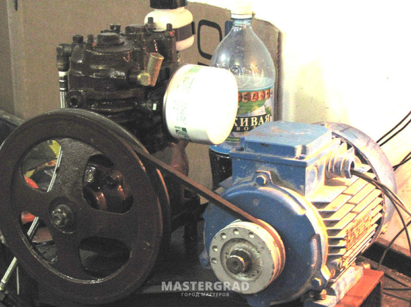 Ременный компрессор своими руками