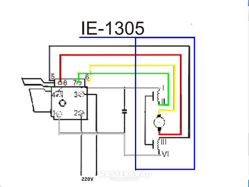 Кнопка для дрели с регулятором схема