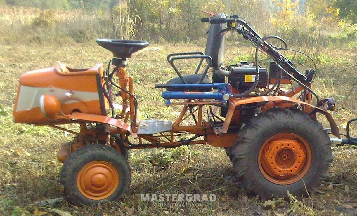 Как сделать своими руками мини-трактор из мотоблока