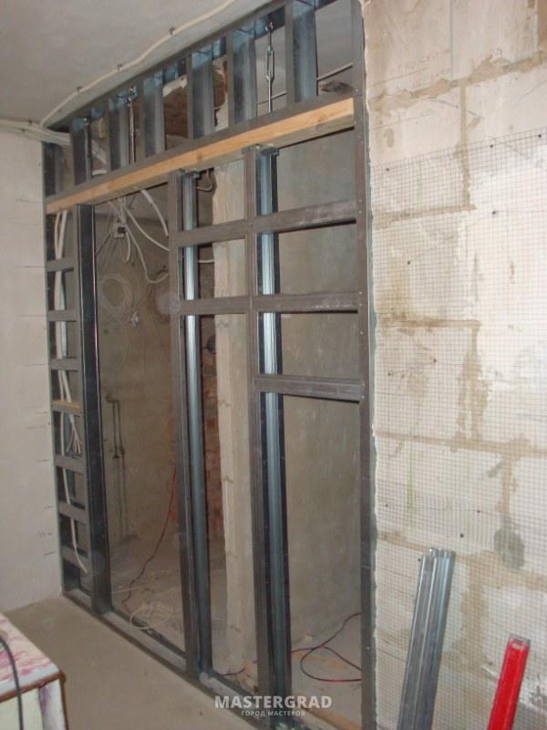 Раздвижные двери в гипсокартонной перегородке