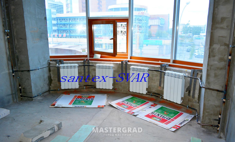 Радиаторы отопления. последовательное подключение. - фото- ф.