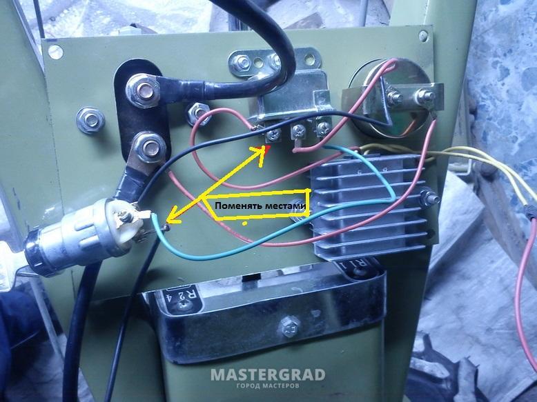 Провода с генератора на