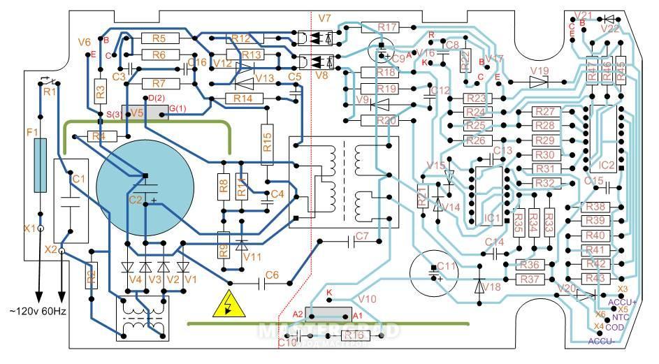 конденсаторы С6 и С7.