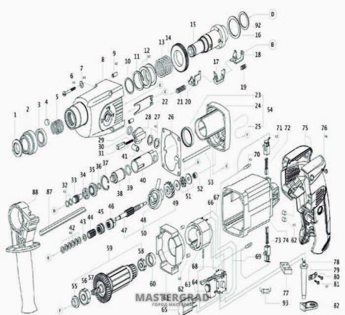 Схема сборки перфоратора