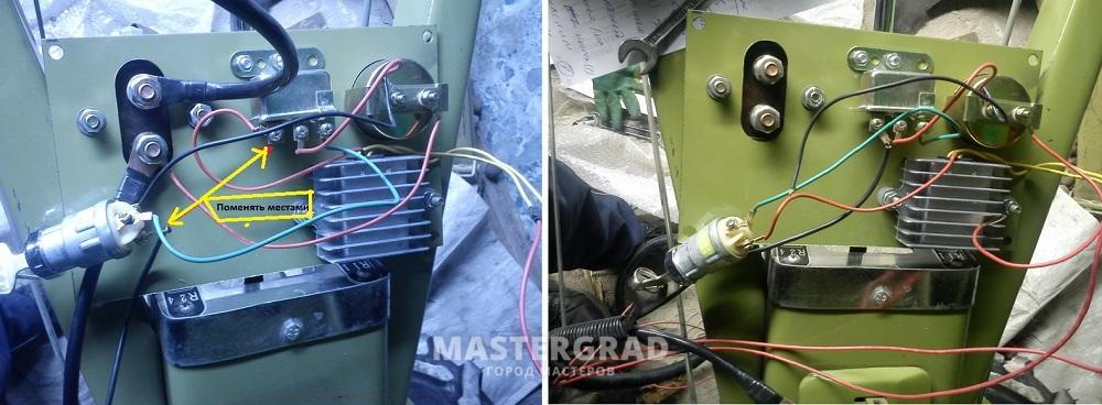 схема електро проводки мотоблока