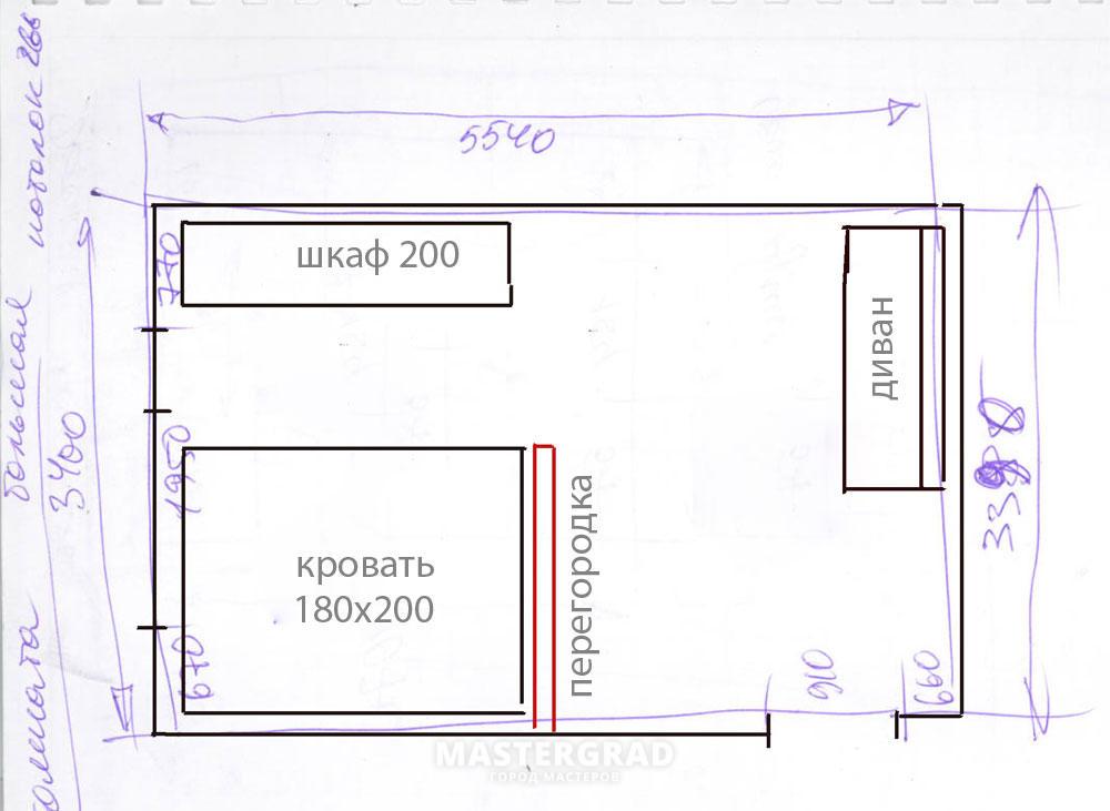 Схема расположения объектов и