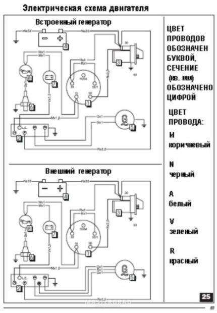 схема електрическая двигателя