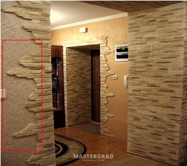 Дизайн из декоративного камня фото