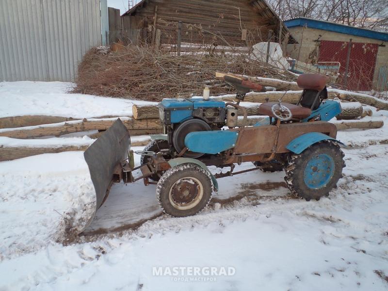 фото самоделки трактора с отвалом втором фото