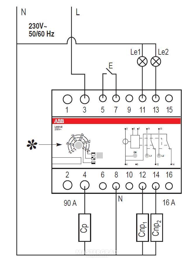 Вот схема из даташита: