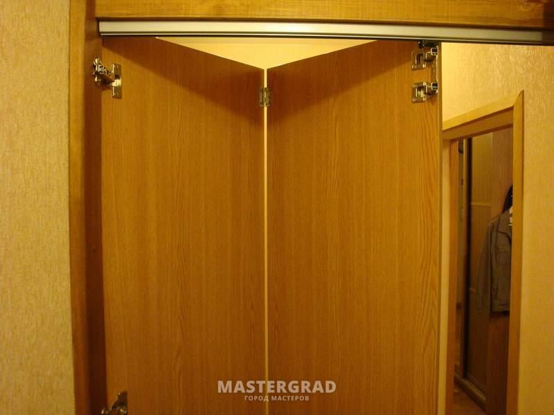 Как сделать двери гармошкой своими руками фото