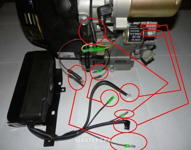 Вот схема подключения проводов