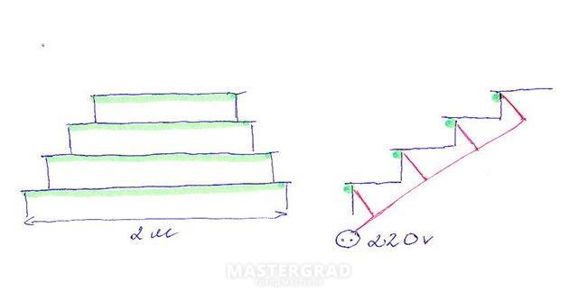 в однолинейную схему,