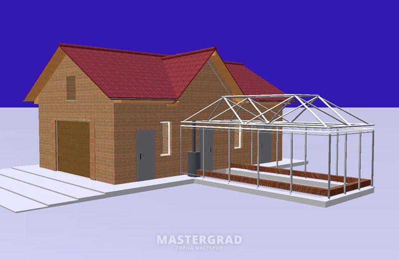 Крыша у теплицы показана