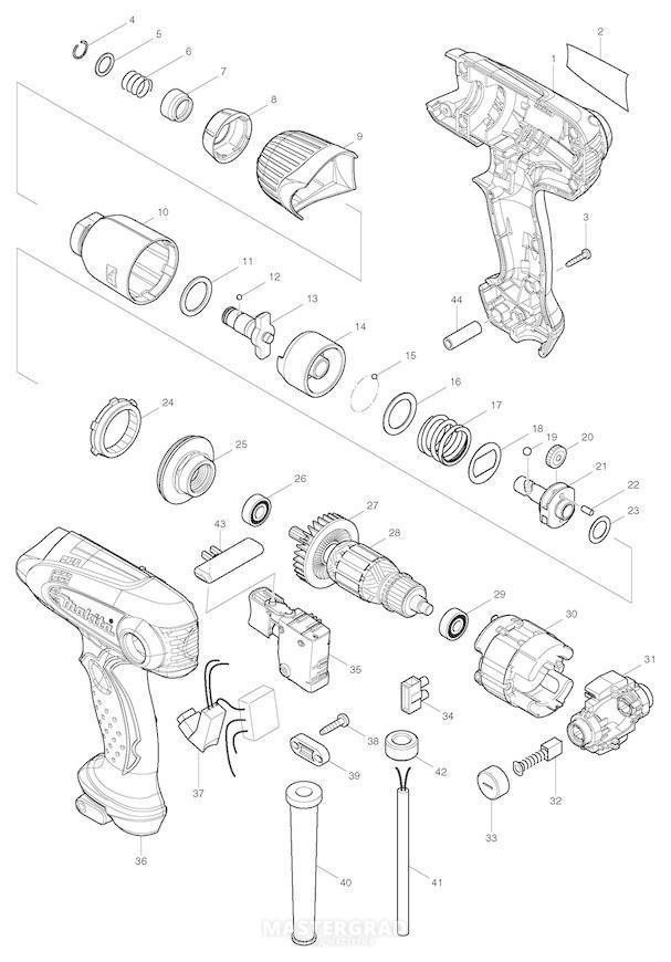 Взрыв-схема: Спецификация