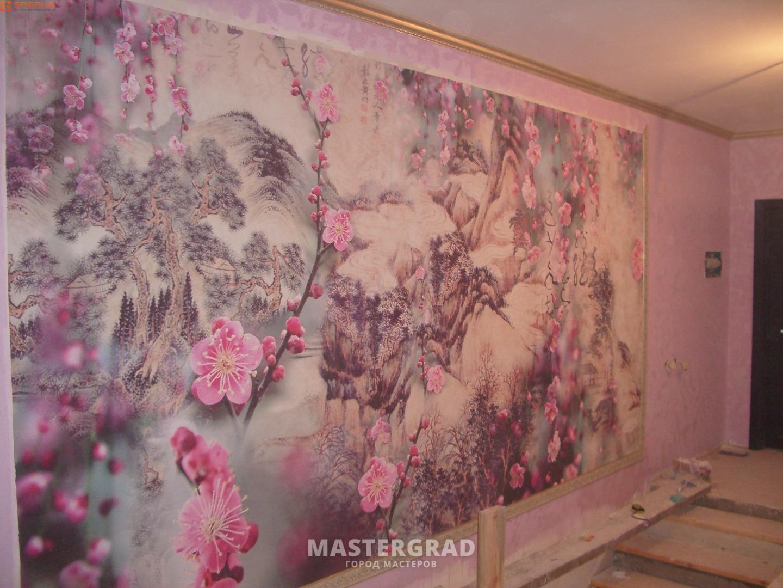 Фото покраски стен обоев
