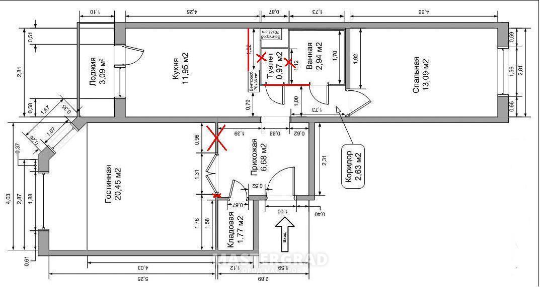 Ип 46с дизайн двухкомнатной квартиры