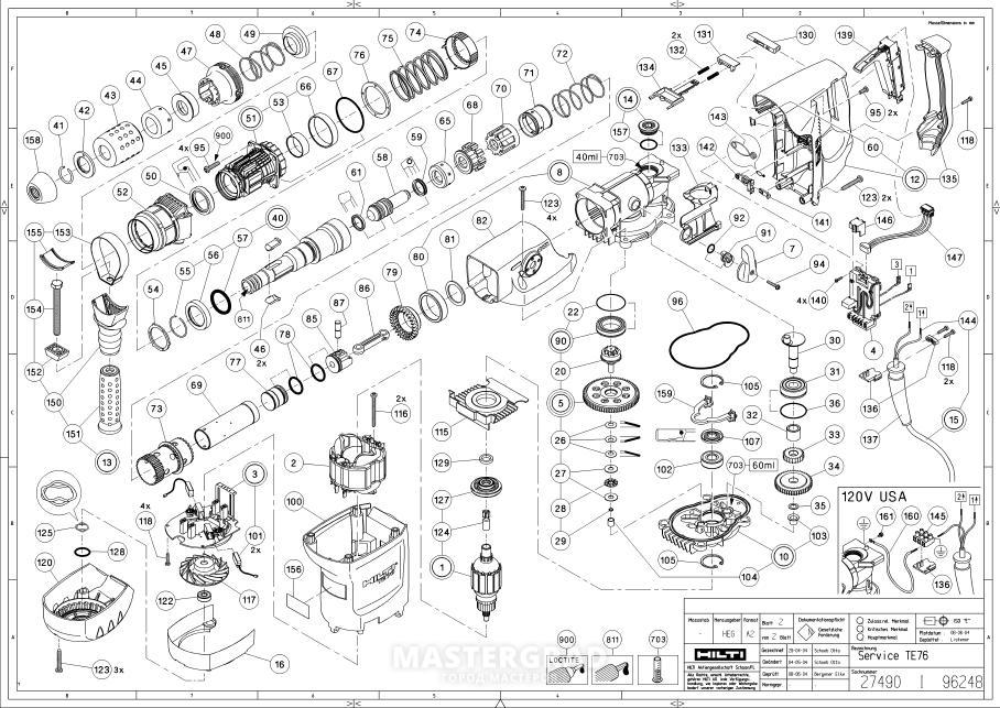 Milwaukee 260220 Ser C15a M18 1234  pact Hammer Drill Parts C 131 14946 33147 further Milwaukee Sawzall Wiring Diagram further Hilti Hammer Drill Parts List besides Makita Miter Saw Switch Wiring Diagram furthermore Wiring Diagram Dremel Tool. on makita drill wiring diagram