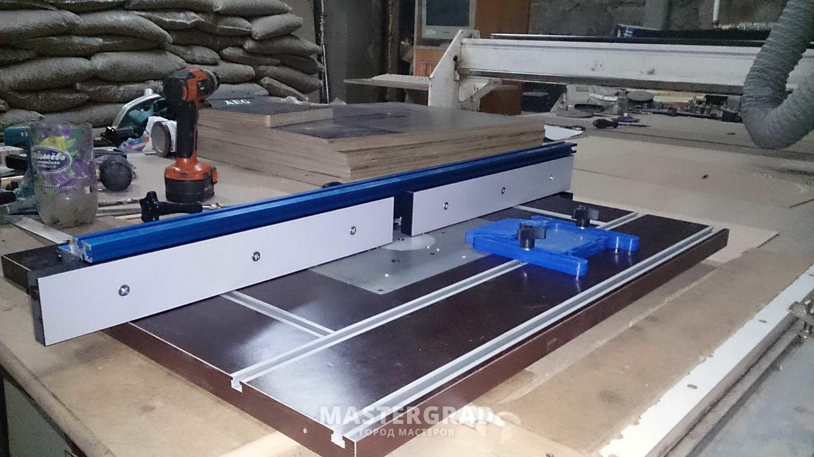 Универсальный стол для фрезера и циркулярУстановка входной