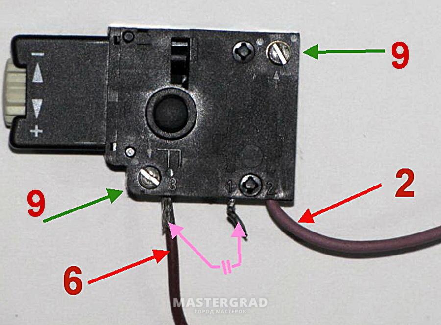 6-вывод катушки на выключатель