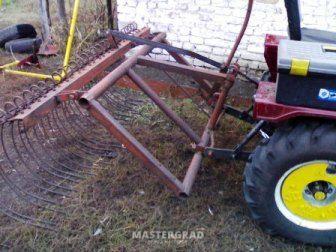 Как сделать грабли на трактор своими руками
