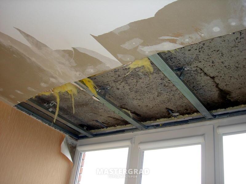 Потолки из плит перекрытия