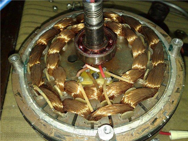 вентилятор люстры (две обмотки